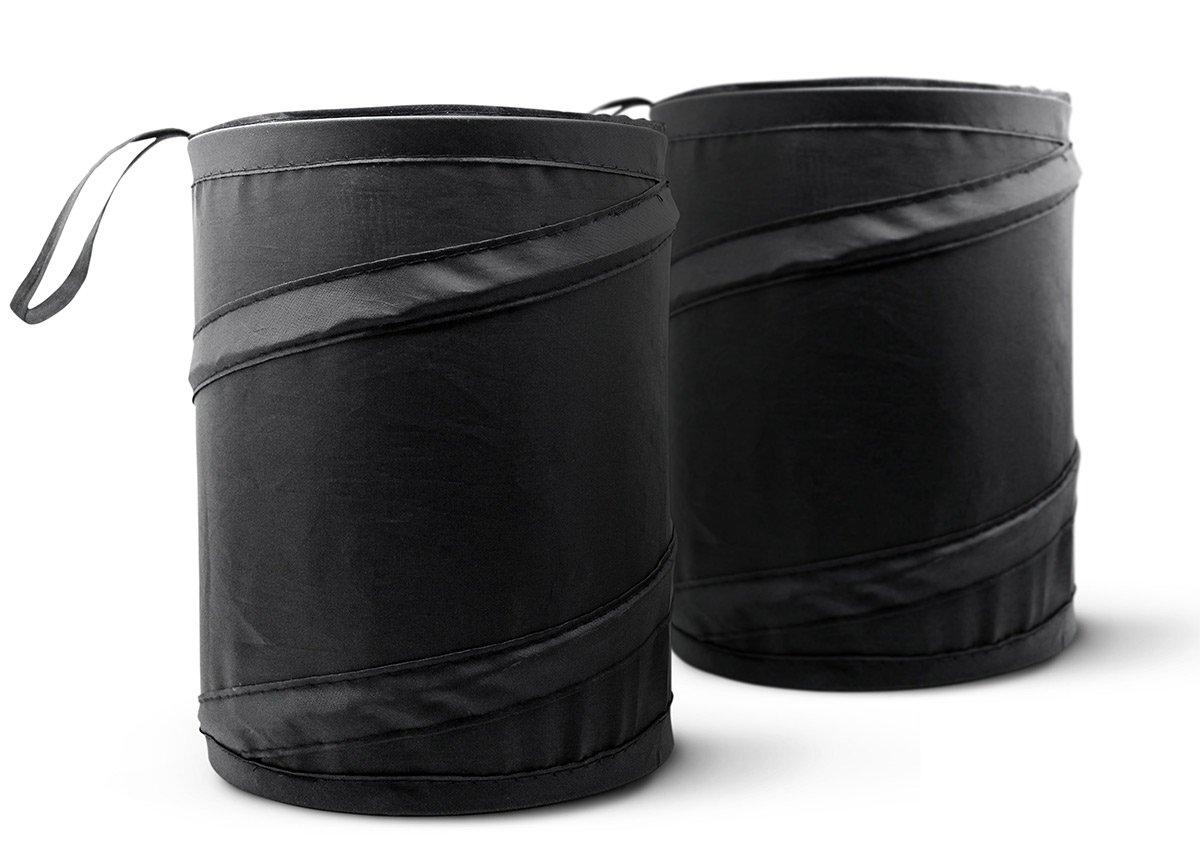 Mavoro Rubbish Bin 2 Pack Waste Basket Bin Car Trash Can Collapsible Pop-up Water Proof Bag Portable Garbage Bin
