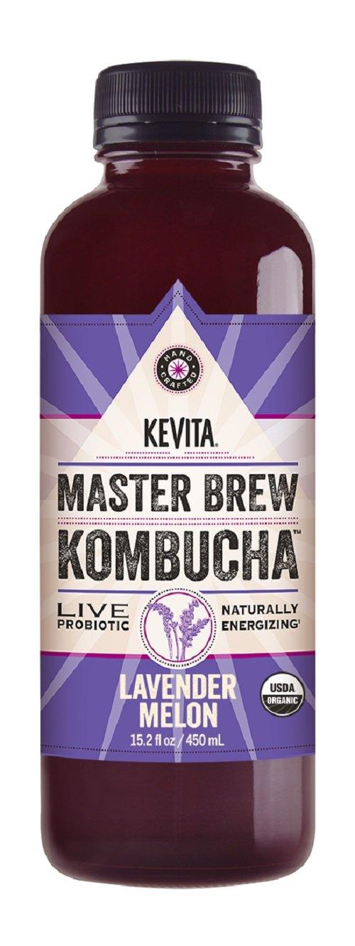 KEVITA Master Brew Kombucha Lavender Melon, 15.2 Ounce (Pack of 12)