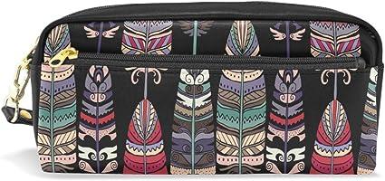 CPYang - Estuche de piel para lápices, diseño bohemio étnico: Amazon.es: Oficina y papelería