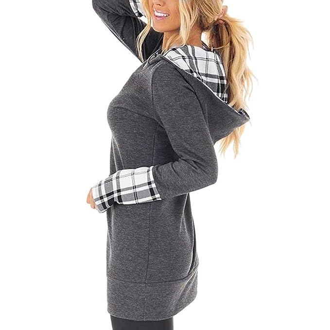 Amazon.com: Womens Turtleneck Tunic Plaid Shirts Long Sleeve Pullover Sweatshirt: Clothing