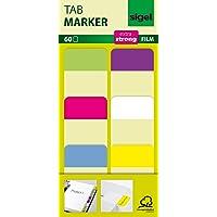 SIGEL HN203 Tab Marker Film, Haftmarker, extra stark, 25 x 38 mm, 60 Streifen