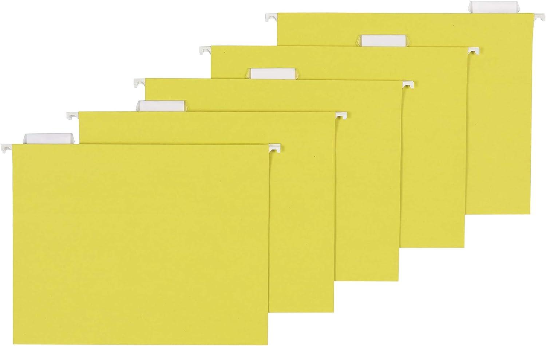 AmazonBasics Hanging Folders, Letter Size, Yellow, 25 per Box