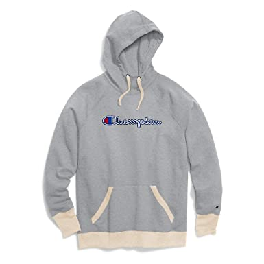 5eee5bf06602 Champion Women s Powerblend¿ Fleece Pullover Hoodie - Applique Y07461 Oxford  Grey Heather Oatmeal Heather