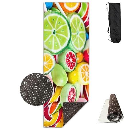 Colorida Manta para Ejercicios de Yoga, Frutas, arcoíris y ...