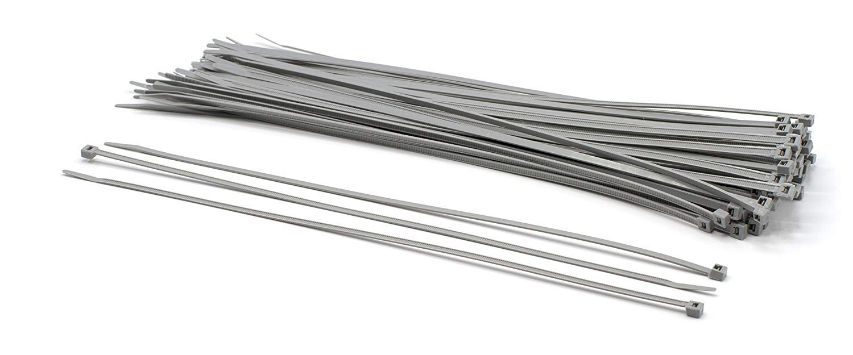 "THE CIMPLE CO - 14 inch Grey Nylon Zip Ties : Strong Zip Tie, Wire Ties : Indoor and Outdoor Rated | No Tools Needed | Made in The USA, Zip Ties (Wire Ties, Cable Ties), 100 Pack – Grey – 14"""