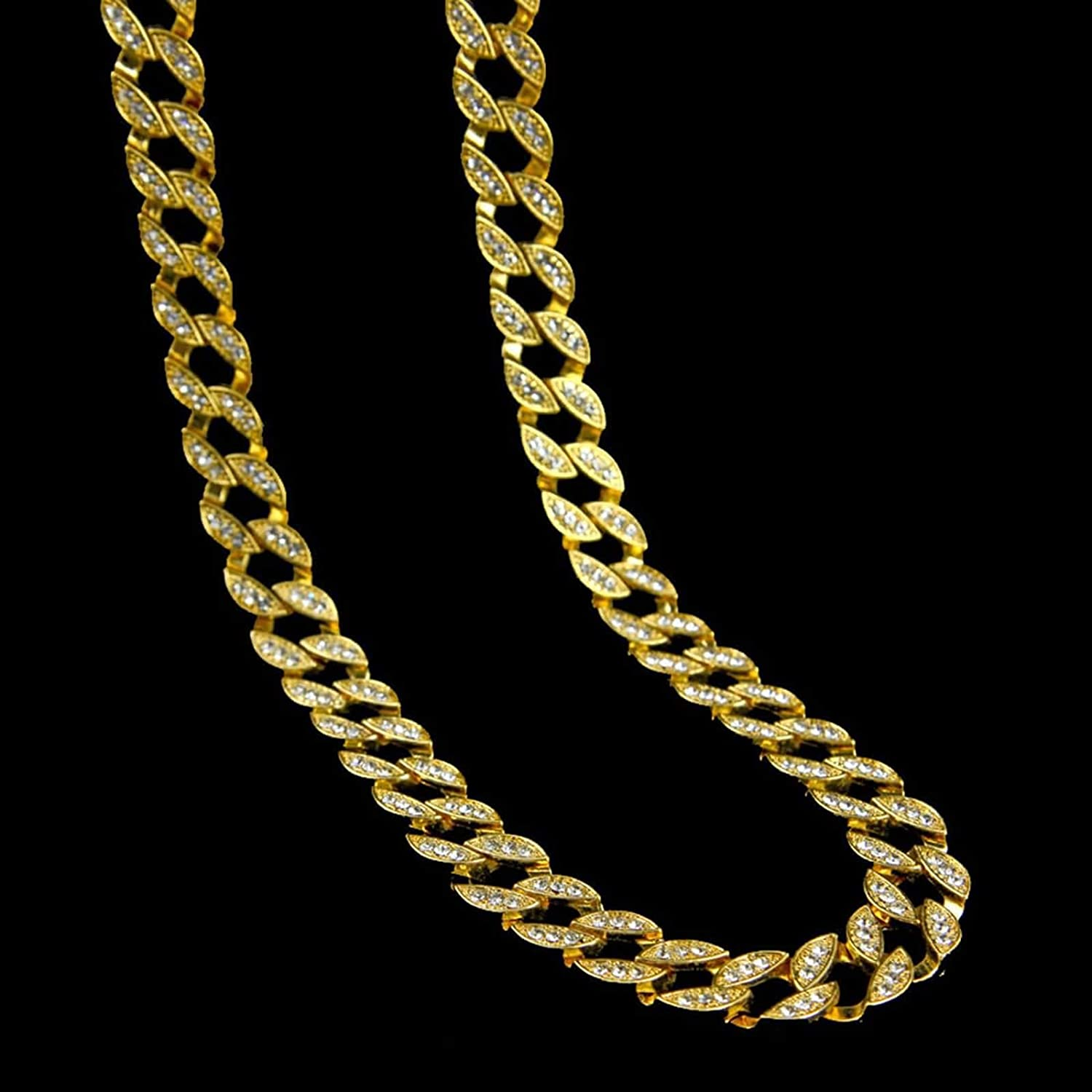 Alloy Curb Chain Necklace for Men Aokarry Stylish Mens Tennis Chain Necklace
