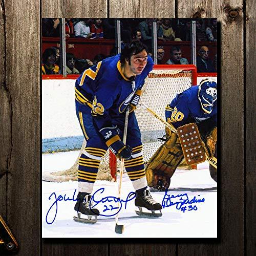 Jocelyn Guevremont & Gerry Desjardins Buffalo Sabres Dual Autographed 8x10 - Autographed NHL Photos (Buffalo Nhl Sabres Photo Signed)
