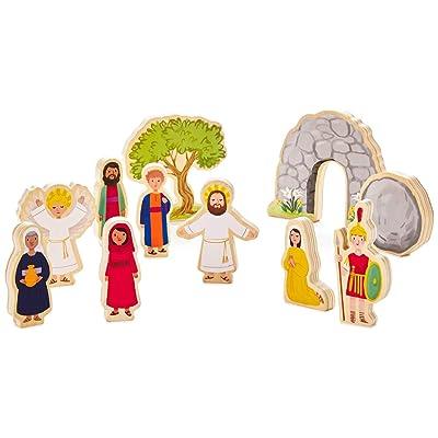 Hallmark Jesus Lives Wood Play Set Dolls & Pretend Play Religious: Toys & Games