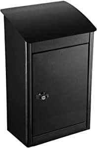 Qualarc WF-PB019 ParcelSentry Junior Wall Mount Locking Parcel Drop Box, Black