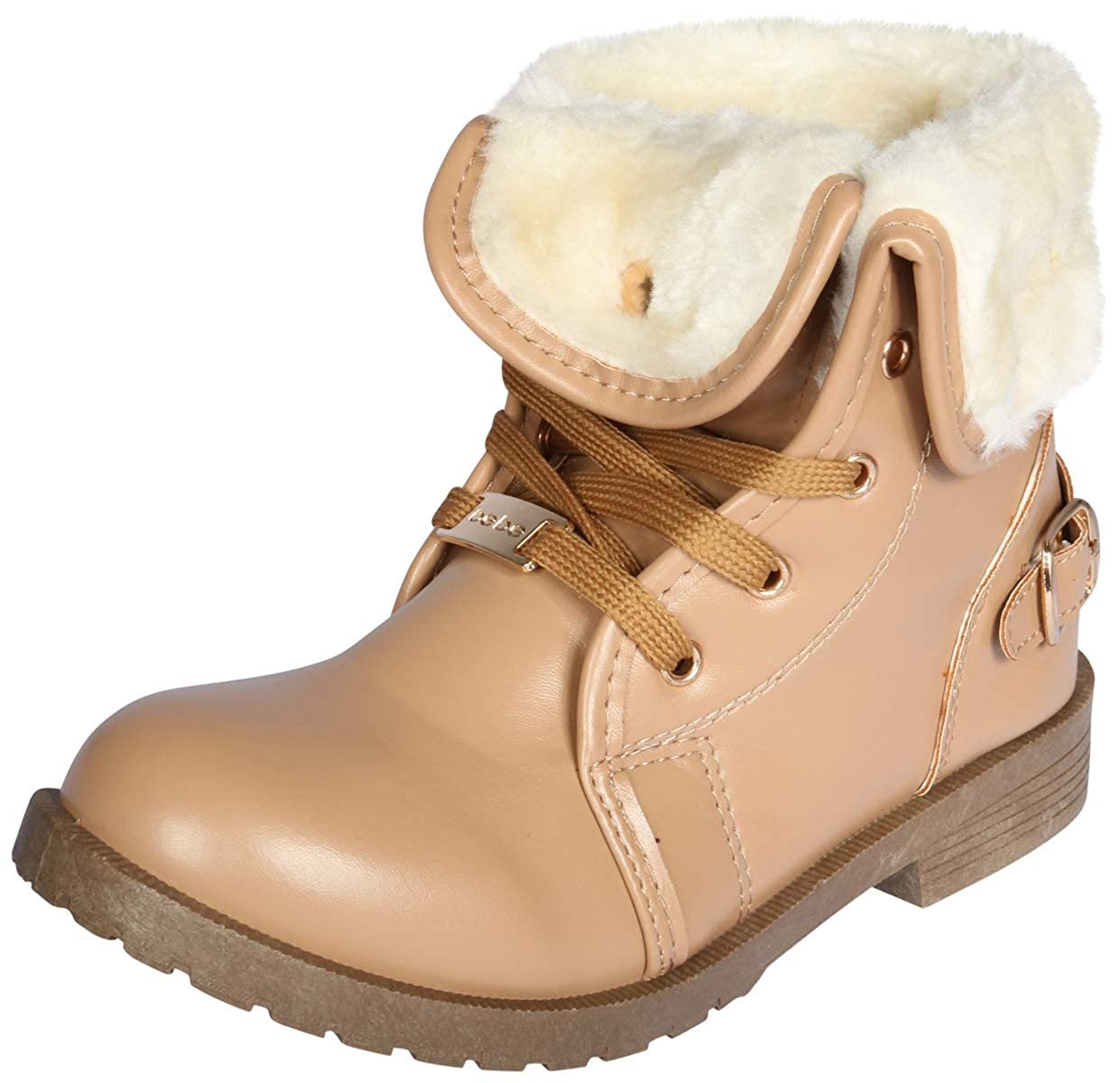 bebe Girls Boots with Warm Fur Sherpa