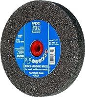 """PFERD 61738 Bench Grinding Wheel, Aluminum Oxide, 6"""" Diameter, 3/4"""" Thick, 1"""" Arbor Hole, 24 Grit, 4140 Maximum rpm"""