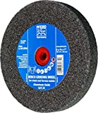 PFERD 61738 Bench Grinding Wheel, Aluminum Oxide, 6'' Diameter, 3/4'' Thick, 1'' Arbor Hole, 24 Grit, 4140 Maximum RPM