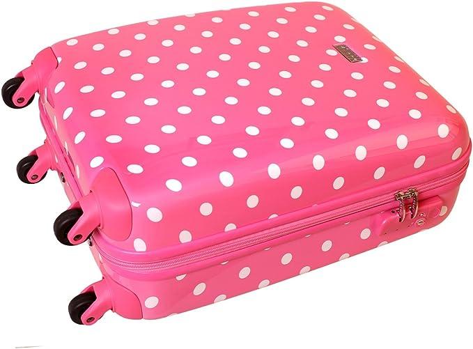 Karry rígida Viaje Maleta TSA Ryanair equipaje de mano Bord Case 30 litros color rosa puntos 813/818: Amazon.es: Equipaje