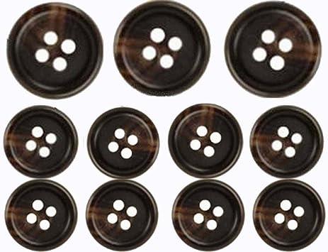 Amazon.com: Brown, Premium Suit Buttons Set (11 Pieces)