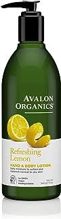 product image for Avalon Organics Hand & Body Lotion Refreshing Lemon, 12 oz