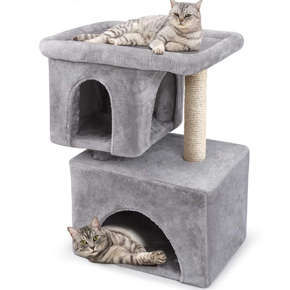 BEAU JARDIN Cat Tree for Big Cats Cat Towers and Condos with Large Perch and Condos, Cat Furniture House with Scratching Post Cat Activity Trees Climbing Tower Kitty Condos Scratch Tower by BEAU JARDIN