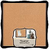 quartet bulletin board cork 14 x 14 home organization black frame 50722 bulletin board