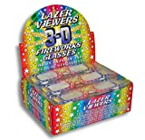 Rainbow Symphony 3D Fireworks Glasses Laser Viewers with Retail Display Box - 50 Fireworks Glasses Per Box - 12 Boxes