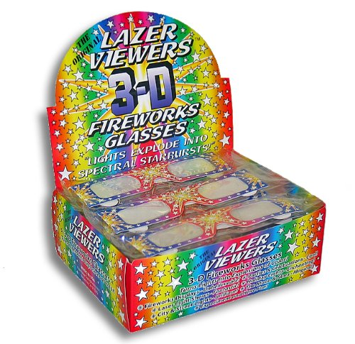 Rainbow Symphony 3D Fireworks Glasses Laser Viewers with Retail Display Box - 50 Fireworks Glasses Per Box - 2 Boxes by Rainbow Symphony (Image #4)