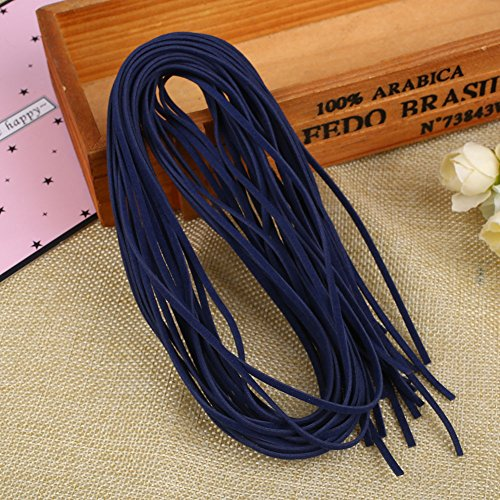 Poly Leather Band (Kicode 10Pcs Rubber Hair Band Decoration Accessory Women Girls DIY Weaving Double Plush Imitation Leather)