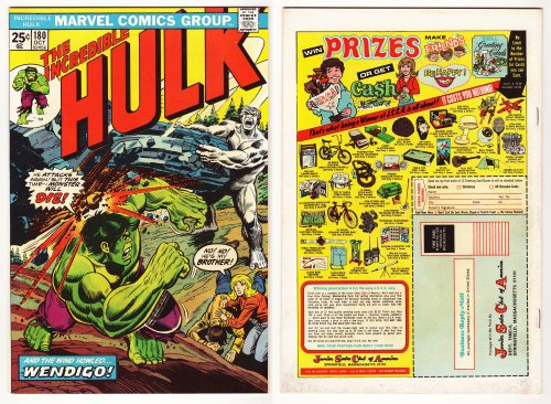 Incredible Hulk, V1 #180. October 1974