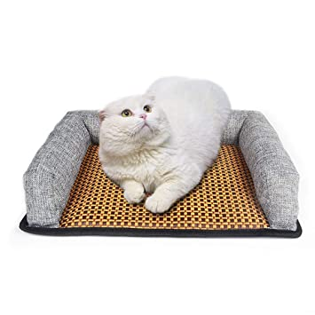 Amazon.com : BDLJH Dog Sofa Cold Bed Breathable Rattan Mat ...