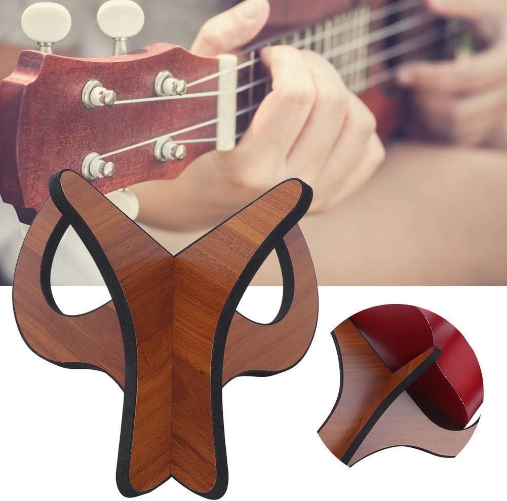 Soporte para viol/ín para ukelele con almohadilla de algod/ón Eva Soporte para ukelele de madera cl/ásico desmontable para soporte de guitarra Accesorios para instrumentos musicales utilizados para apoya
