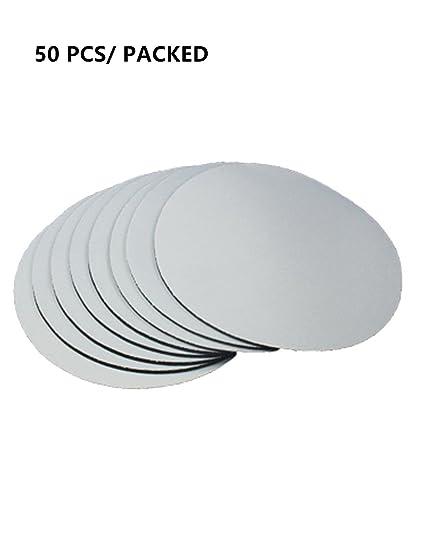 amazon com 50 x blank white circular mouse pad sublimation heat