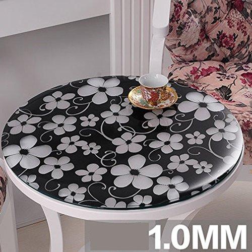 Tablecloth Weiches Glas Umweltschutz PVC Runde Tischdecke Wasserdicht transparent und leicht zu reinigen Tischset Runde Tischdecke Dicke von 1 mm (größe   120cm) B07BXY46BQ Tischdecken Das hochwertigste Material  | Queensland