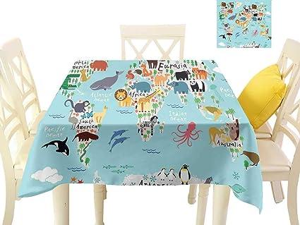 Free Map Of Australia To Print.Amazon Com Angoueleven Kids Wrinkle Free Tablecloths Educational