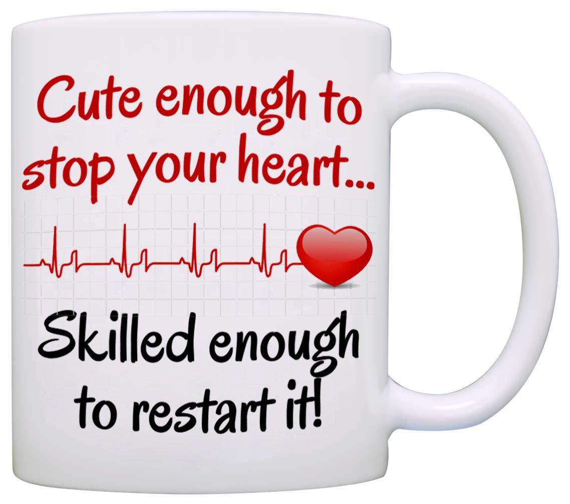 Amazon.com: Funny Nurse Coffee Mug, Cute Enough, Printed on Both ...