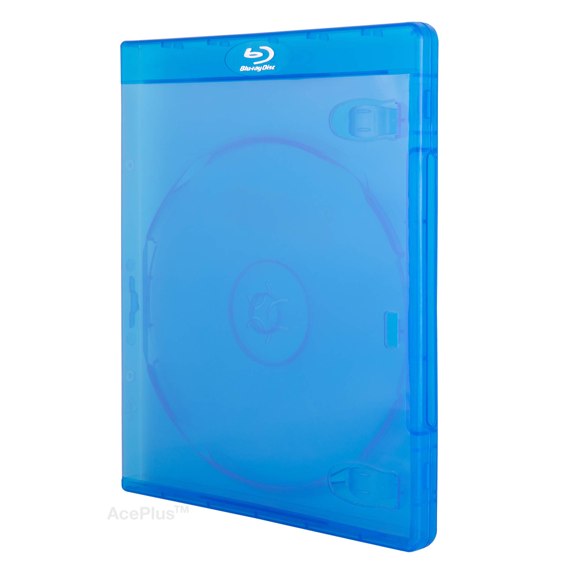 Empty Standard Double Blue Replacement Boxes//Cases for Blu-Ray Disc Movies BR2R12BL 10