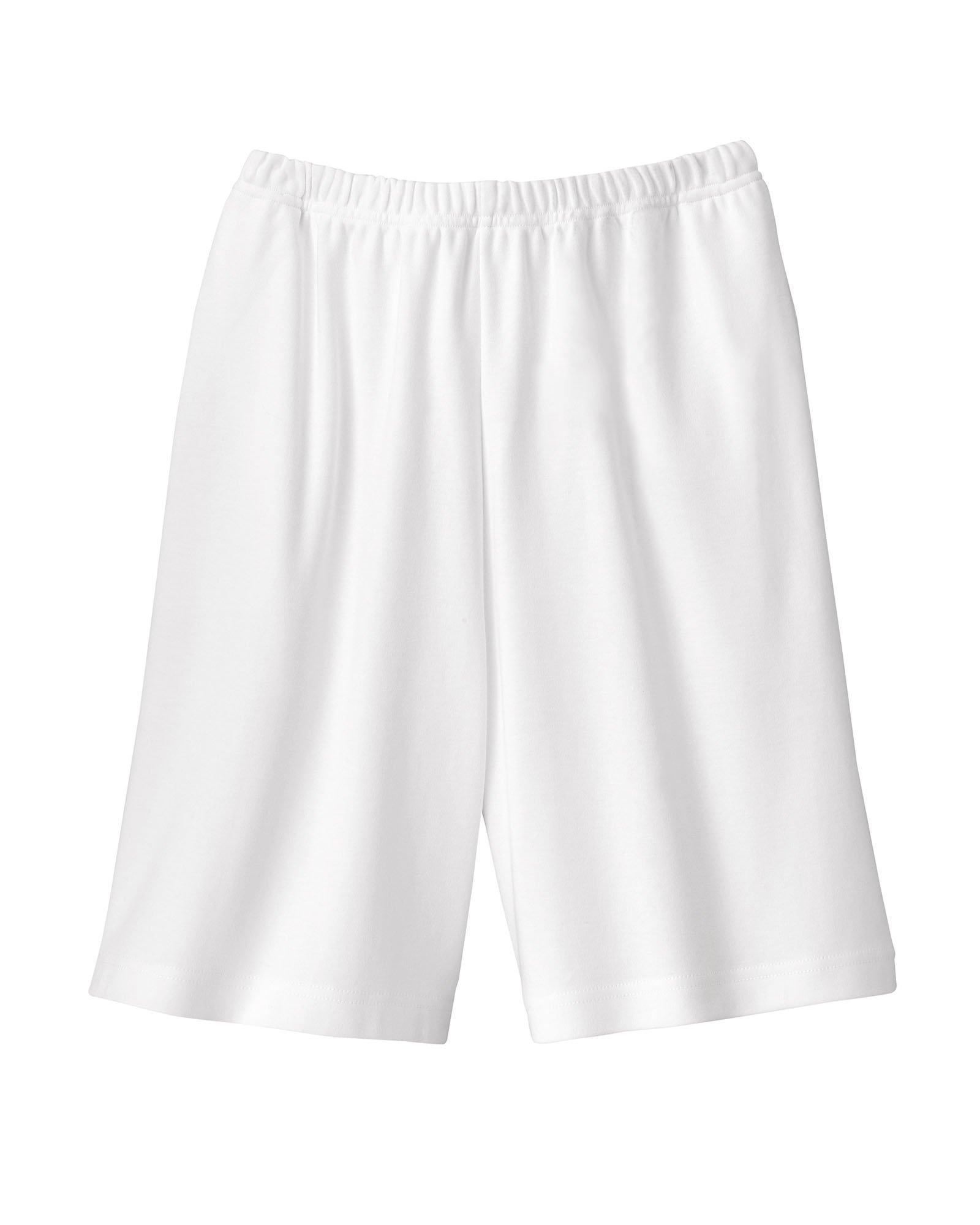UltraSofts Knit Shorts, White, 1X