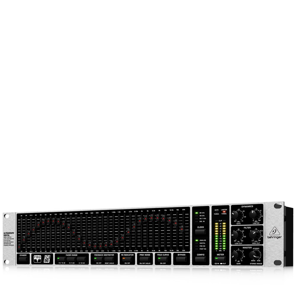 Behringer DEQ1024 Ultragraph Digital Equalizer, Feedback Destroyer and Dynamics Processor