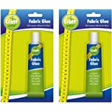 2pk Fabric Glue by Craft Central | Extra Strong & Large 50ml Fabric Glue for Clothes, Fabrics & Textiles | No More Needle and Thread as Now You Can Sew in Seconds