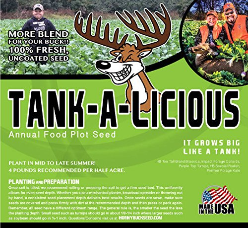 Tank-a-licious - Horny Buck Food Plot Seed (4 pound bag plants 1/2 an acre)