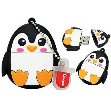 Animal Penguin Shape Usb20 Flash Drives 128gb Cartoon Novelty Memory Stick Thumb Drive Jump Drive Gift