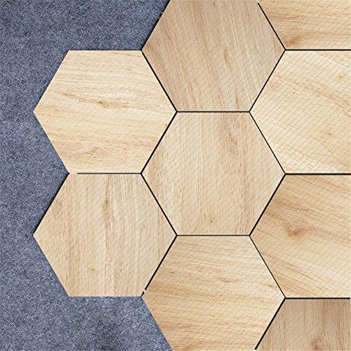 Cheap  Floor Tiles Sticker Wood Living Room Bedroom Bathroom Waterproof Kitchen Mural Decal..