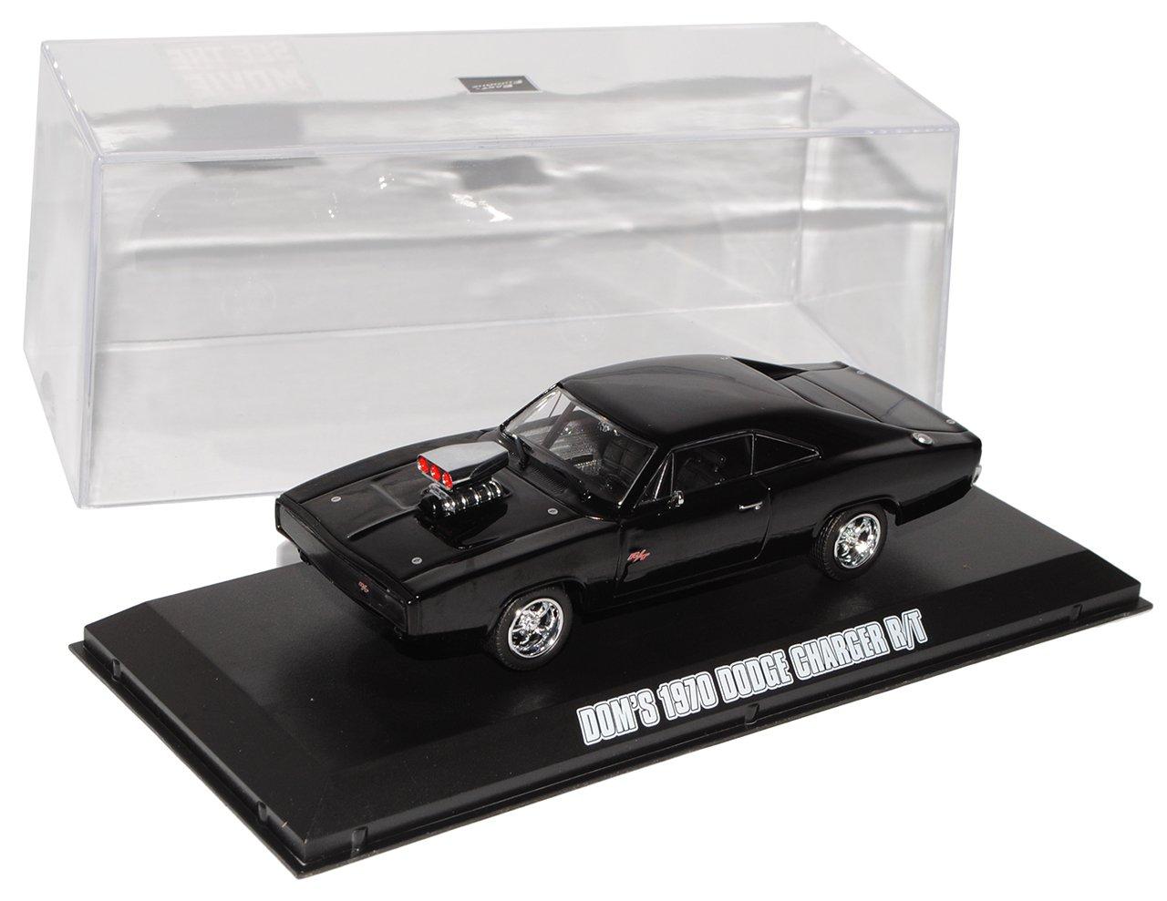 alles-meine.de GmbH Dodge Charger R//T 1970 Coupe Schwarz Dom Vin Diesel Fast and Furious 1//43 Greenlight Modell Auto mit individiuellem Wunschkennzeichen