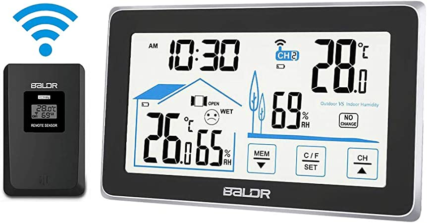 Weather Station Indoor Outdoor Digital Thermometer With Wireless Remote Sensor