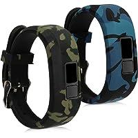 kwmobile Armband compatibel met Garmin Vivofit Jr. / jr. 2-2X siliconen fitness tracker sportarmband - camouflage zwart…