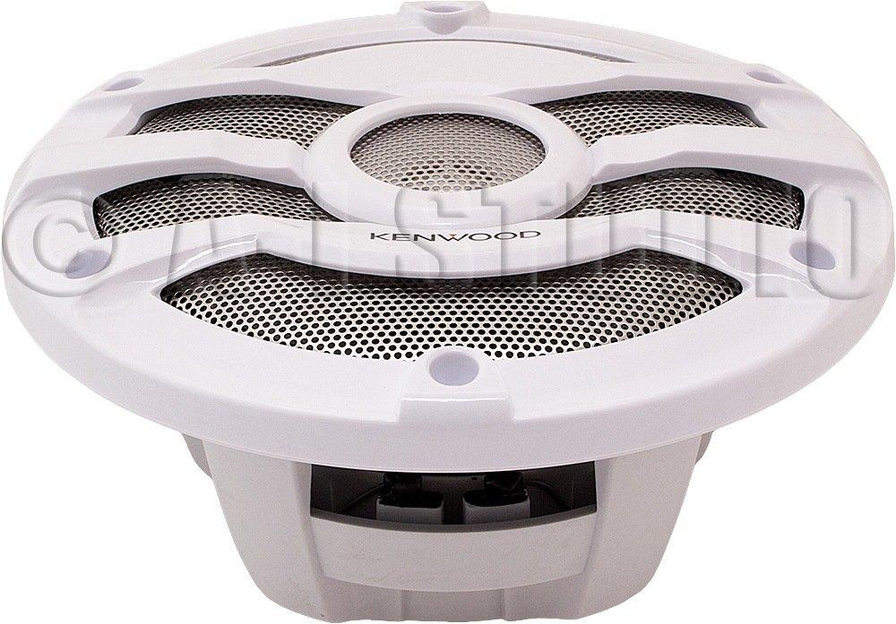 Kenwood 8 Inch 300 Watt Powersports//Marine Boat White Speakers KFC-2053MRW 2