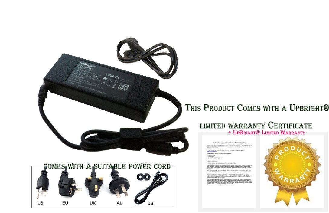 UpBright NEW AC / DC Adapter For Soundwave TP1906F LED LCD TV Power Supply Cord Cable PS Charger Input: 100 - 240 VAC Worldwide Use Mains PSU