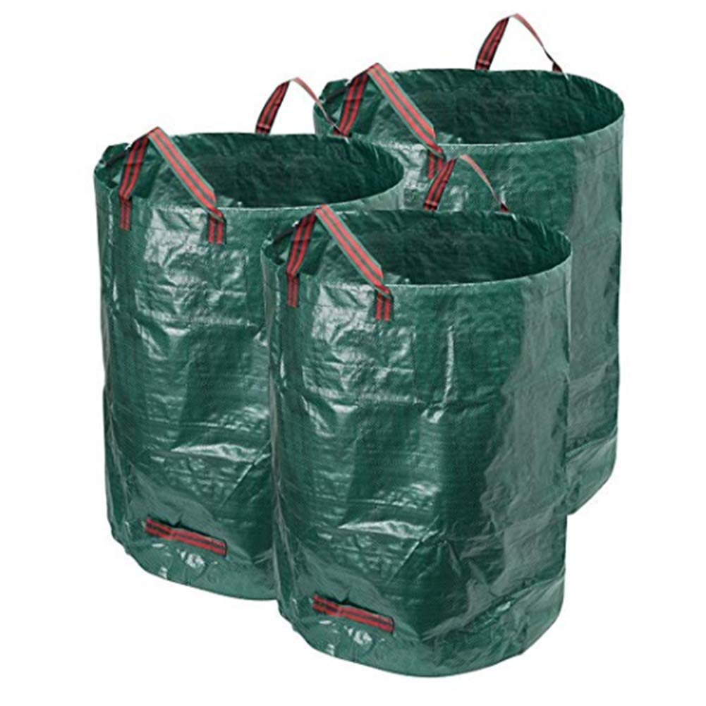 JOEPET 272 litres Garden Waste Bags,Heavy Duty Reusable Garden Refuse Sack with 4 Handles for Pool Garden Leaf Garbage Bag (3pack) by JOEPET