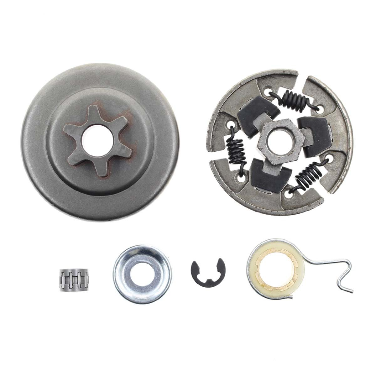 Carbhub Sprocket Clutch 3/8'' for Stihl 017 018 021 023 025 MS170 MS180 MS210 MS230 MS250 Chainsaw with Washer E-Clip Kit Replace 1123 640 2003, 1123 640 2073