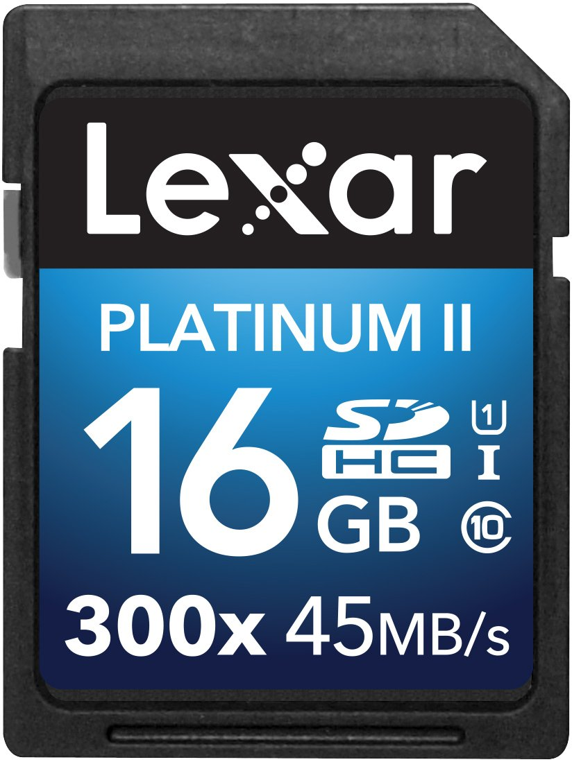 Lexar Platinum II 300x SDHC 16GB UHS-I/U1 (Up to 45MB/S Read) Flash Memory Card-LSD16GBBNL300 LEXAR MEDIA INC