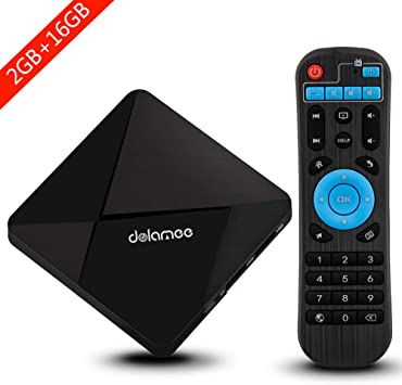 Android TV Box, Dolamee D5 Android 7.1 TV Box Amlogic S905 Quad-core 64 bits Procesador 2GB RAM 16GB ROM Smart Media Player con 3D 4K Wifi Integrado Bluetooth4.0: Amazon.es: Electrónica