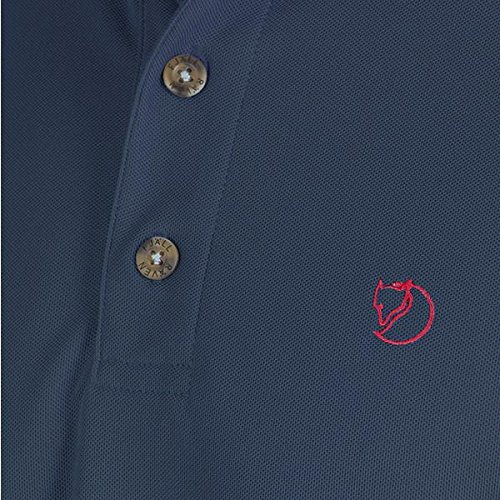 Uncle Blue Hombre FJALLRAVEN Crowley Pique Shirt M Camiseta
