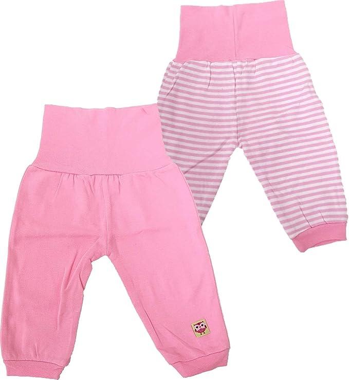2er Pack Baby Pumphose Baby Hose 2st Fleecehose mit Elastischem Bauchumschlag Oeko-Tex Standard 100 Rose