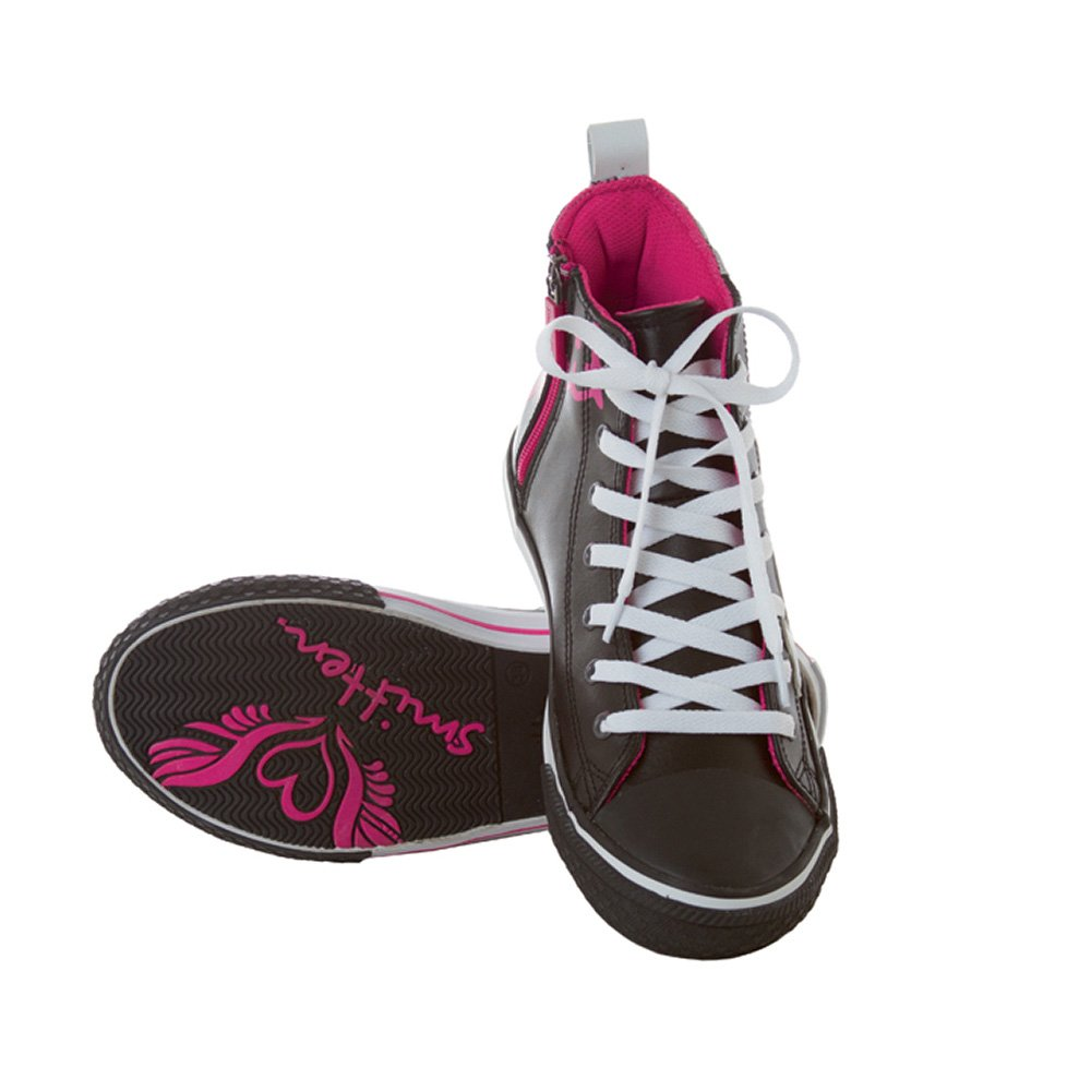 Smitten Women's Take Flight Zip High Top Athletic Shoe B073VV9KV6 38 Black